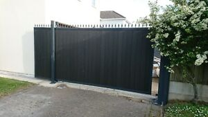 Sliding driveway gates  automated NICE Robus composite board