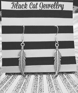 Handmade Earring Stirling Silver Earring Hooks Feathers