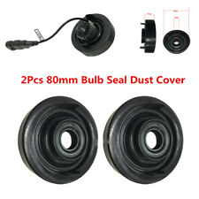 2X 80mm Rubber Housing Seal Cap Dust Cover For Car LED Headlight Light Retrofit