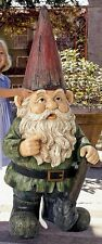 "©Gottfried The Gigantic Garden Gnome Design Toscano 45½"" Hand Painted Statue"