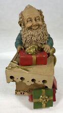 """Lee Sievers Gnome Tyler #8071 Edition #65 Cairn Studios 4.25"""" Coa & Story Card"""