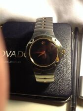 SWISS MOVADO SE 2TONE 18K GOLD PL/S.STEEL,MODEL# 0604484 MEN'S WATCH,RETAIL$1195