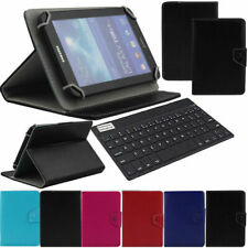 """US For Samsung Galaxy Tab 2/3/E/A 7"""" Bluetooth Keyboard Leather Stand Case Cover"""