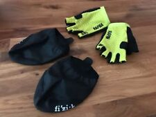 RAPHA Pro Team Mitts & Fizik Toe Covers Chartreuse BNWOT XS