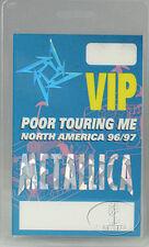 Metallica 1996-97 North America Tour Laminated Backstage Pass