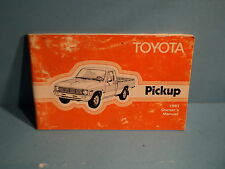 81 1981 Toyota Pickup Truck owners manual