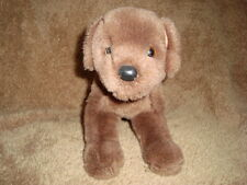 "Douglas The Cuddle Toy Plush Chocolate Brown Dog 10"" L"
