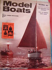 MODEL BOAT MAGAZINE DECEMBER 1967 BLUE STREAK MK2 & COPPERHEAD PLANS HMS FURIOUS