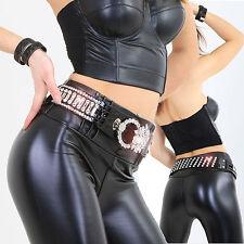 Glamour pedrería piedra Stretch cinturón Cinturón glam piedras Gothic góticos piel sintética