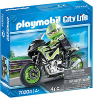 Playmobil City Life Motorcycle with Rider 70204 (for Kids 4 years old and up)