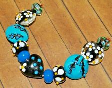 11 pc set Handcrafted Fine, Murano Lampwork Glass Beads - 10mm to 20mm-  A2395c