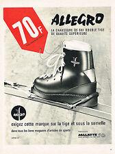 PUBLICITE ADVERTISING 015  1965  JALLATTE   chaussures de ski ALLEGRO