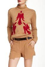 NWT $265 L.a.m.b by Gwen Stefani BIRD Sweater Turtelneck M