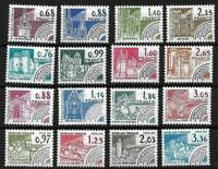 """FRANCE PREOBLITERE YVERT 162/177 """" MONUMENTS HISTORIQUES 16 TIMBRES"""" NEUFxx LUXE"""