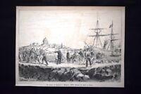 Lo sbarco di Garibaldi a Marsala, 1860 Incisione del 1882