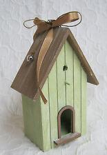 Deko Vogel Haus Holz Dekoration Shabby Landhaus Geschenk Idee 18 cm hoch NEU