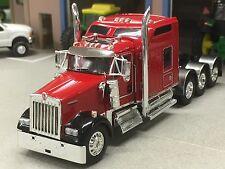 "1/64 DCP RED W900 KENWORTH TRI AXLE W/ 86"" AERO SLEEPER"