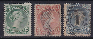 Canada Large Queen Issues #24, 25 and 30  All Used  See*