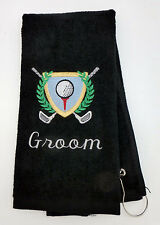 Personalized Embroidered Golf Towel * Golf Crest *