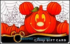 DISNEY MAGIC KINGDOM 2008 HALLOWEEN PARTY NIGHT PUMPKIN COLLECTIBLE GIFT CARD