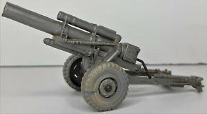 Marx Vintage 1960's Firing Long-barreled Howitzer WWII US Army Plastic Toy