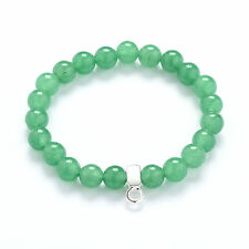 Authentic Jade Gemstone Charm Bracelet in Gift Pouch