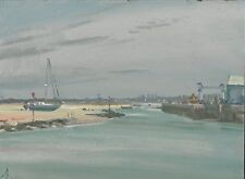 """NEW ORIGINAL MICHAEL RICHARDSON """"Sultry June Day Le Croisic"""" France OIL PAINTING"""