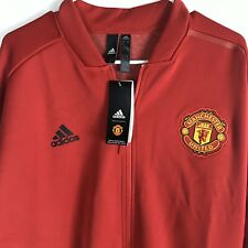 adidas Manchester United Full Zip ZNE Jacket CW7670 Mens Size Large Red