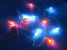 LED String Lights Red Blue Balloons 6 Foot Strand Indoor Battery Operated NEW