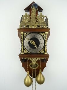 Zaanse Dutch Vintage Antique Wall REPAIR Clock 8 day (Warmink Wuba Era)