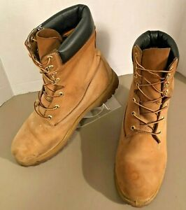 "Timberland  ICON 8"" Wheat Leather Waterproof Boots Men's Sz 12 W USA Made 12281"