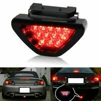 Universal Triangle Flash LED Lights Motorcycle ATV Car Rear Tail Brake Fog Lamp