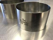 "Fat Daddio's RRD 3052 3"" x 1.75 "" Stainless Steel Cake and Pastry Ring Mold"
