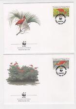1990 Trinidad Tobago WWF Endangered Species SG 774/7 Set four FDC or Fine Used