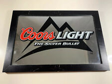 2007 Coors Light The Silver Bullet Light Mirror Beer Sign L19.5 X W13.25 X H.75