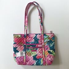 Vera Bradley Iconic Small Vera Tote Pink Floral New With Tags