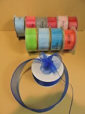 "25 Yards 1-1/2"" Organza Pull Bow Ribbon w/Optional Gold / Silver / Plain"