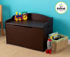 KidKraft Primary Wooden Austin Toy Box - Espresso 14956