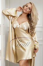 Irall Parisa Nightdress Gold Beige Nightie Satin Sizes 8 to 18 Nightwear Small 8-10