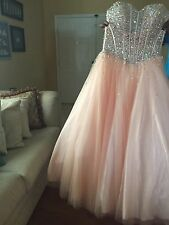 Teenage designer pink dress size 12 used only once it is a corset