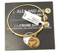 NEW Alex and Ani Cruise Ship Gold Charm Bracelet Bangle