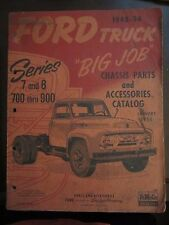 1948 1954 Ford Big Job Truck Chassis Parts Accessories Catalog January 1954 (P)