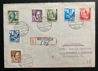 1948 Galmbach Germany Allied occupation Registered Cover To Dresden