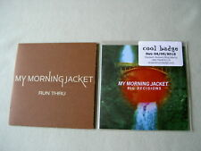 MY MORNING JACKET job lot of 2 promo CDs Run Thru Big Decisions