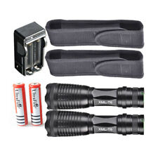 10000LM XM-L T6 LED 2x Lampe de poche tactique 2x 18650 Package Flashlight