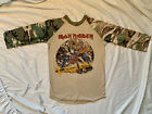 Vintage Iron Maiden Shirt 1982 Number Of The Beast Camo Concert Jersey