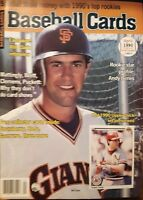 1990 April Baseball Card Magazine Will Clark Coverw/6 Cards Strawberry + more