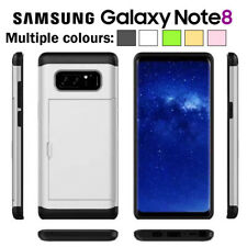 For Samsung Galaxy Note 8 2in1 Shockproof Armor Slide Card Slot Hard Case Cover