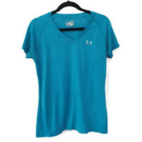 Under Armour Heat Gear Semi Fitted Womens Short Sleeve T Shirt Athletic Blue M