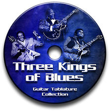 ALBERT KING, FREDDIE KING & BB KING BLUES GUITAR TAB TABLATURE SOFTWARE CD